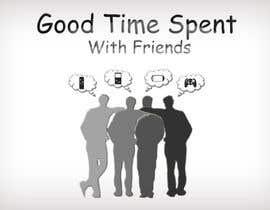 #36 para Gaming theme t-shirt design wanted – Good Times Spent with Friends de midoqaz