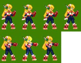 pixel art sprite sheet for a videogame character freelancer