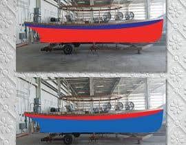 #4 for Color render an existing boat hull from a digital photo af Mashiur63