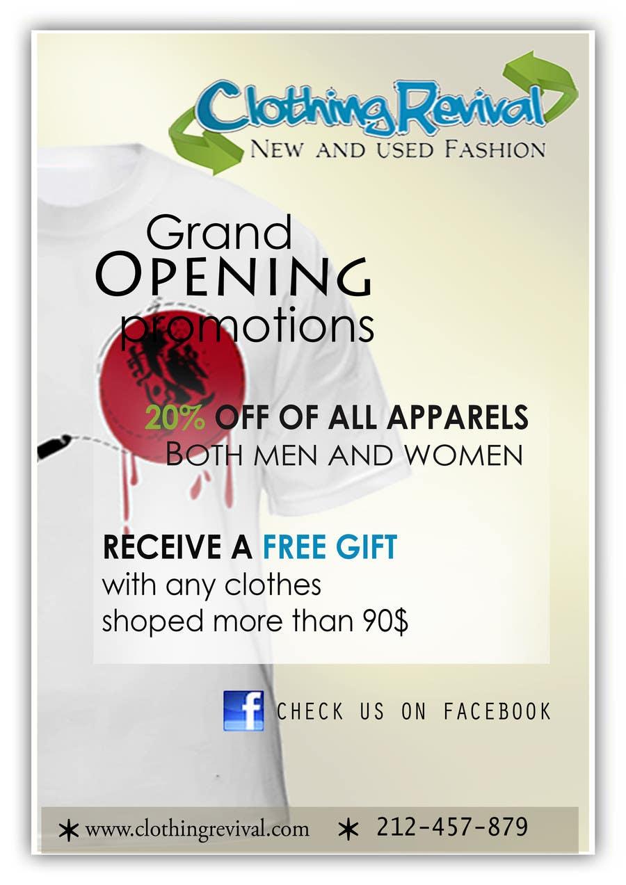Конкурсная заявка №23 для Advertisement Design for Clothing Revival