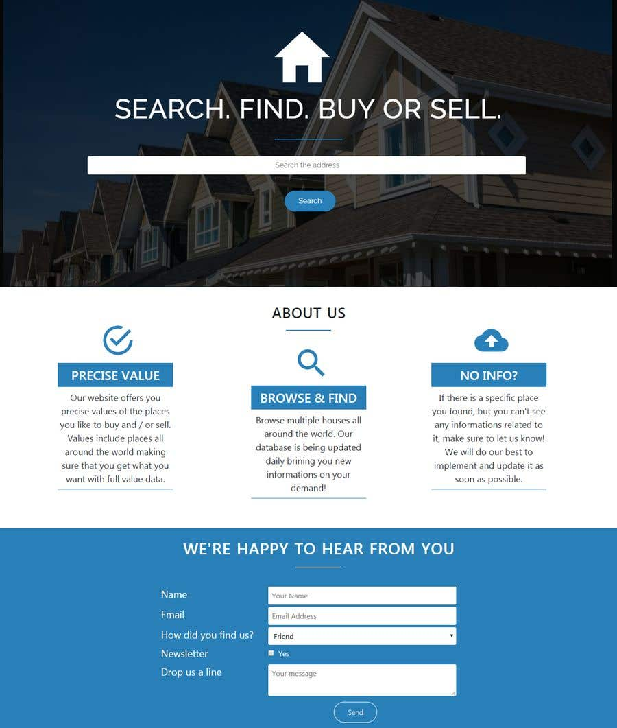 Entry 5 By Andreasdeveloper For 2 Page Website Design Simple Layout Freelancer