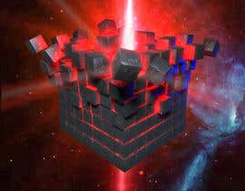 #19 for I need a exploding sci-fi cube in space by DoctorRomchik