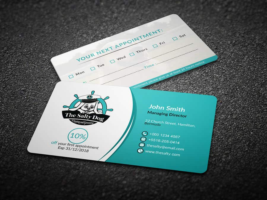 business card - Dog Grooming Business Cards