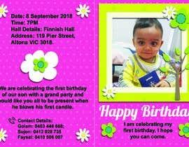 #2 для I need an inviation card design for my son's first Birthday от himelhowlader121
