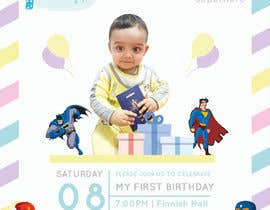 #13 для I need an inviation card design for my son's first Birthday от GowthamR14