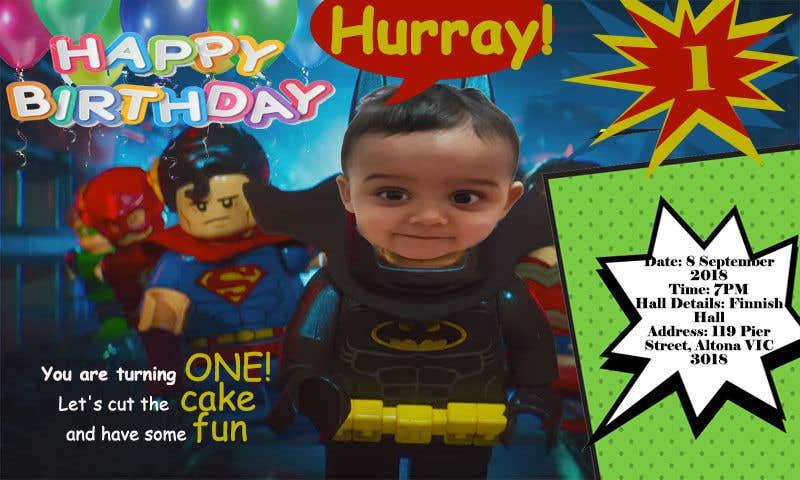 Конкурсная заявка №28 для I need an inviation card design for my son's first Birthday