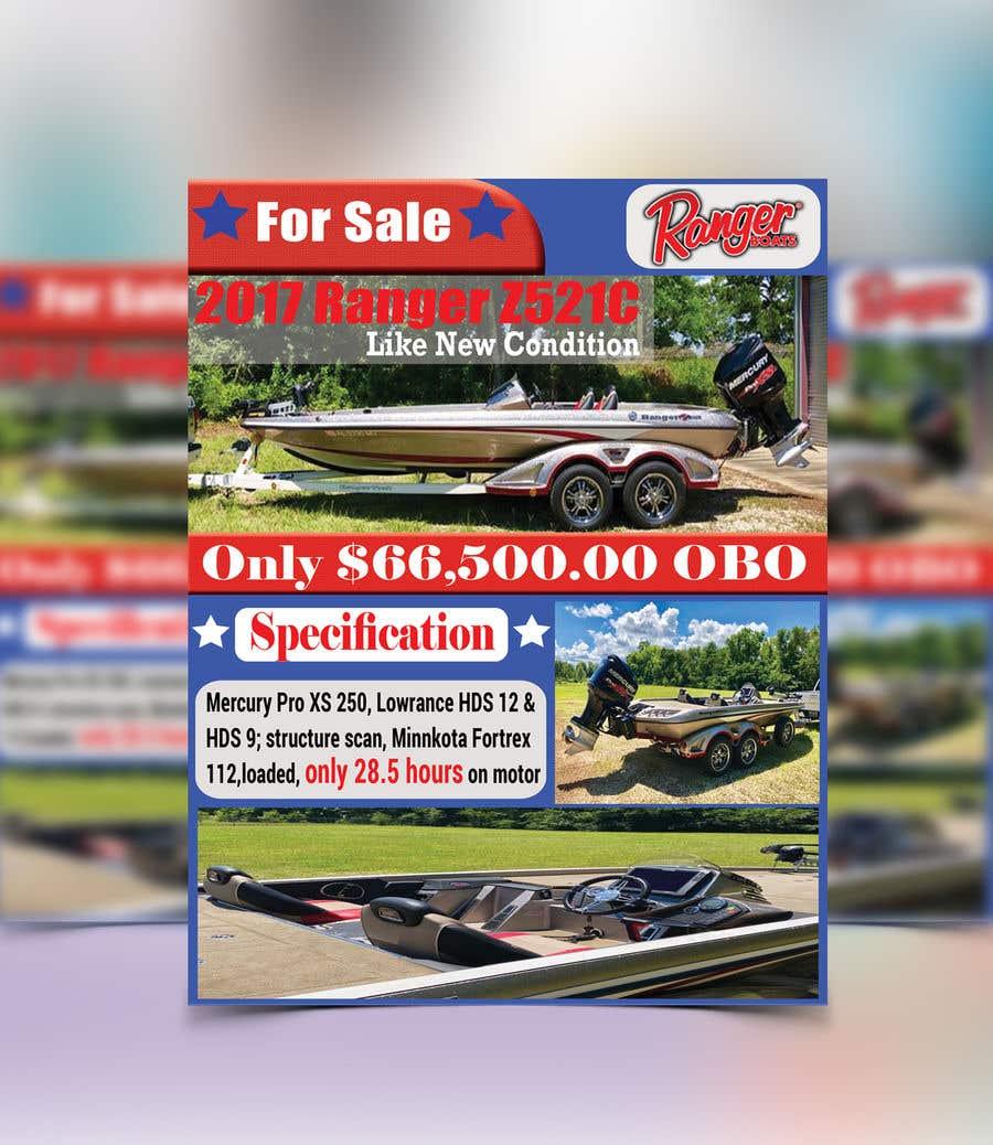 "Penyertaan Peraduan #39 untuk need poster today for selling boat "" used boat "" need inspiration"