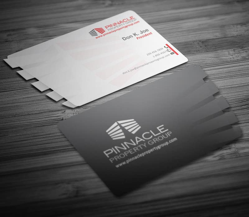 Contest Entry #                                        37                                      for                                         Business Card Design for Pinnacle Property Group - POTENTIAL LONG-TERM EMPLOYER