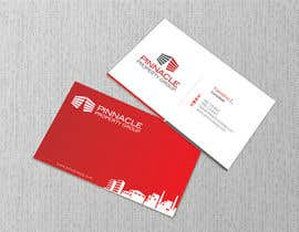 FareehaZ tarafından Business Card Design for Pinnacle Property Group - POTENTIAL LONG-TERM EMPLOYER için no 44