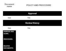 #5 for Policy template - word version design by hafizzarr