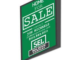 #9 untuk Use different font (your discretion) than the bold text SEL logo to better contrast for a 2' x 3' real estate sign with a 2' triangle on the bottom to resemble a text message bubble. oleh Eastahad