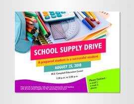 #10 for School Supply Drive Flyer Design for Teachers/Students af dipta165