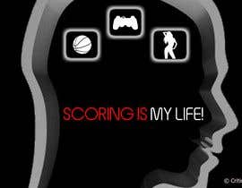 la12neuronanet tarafından Gaming and scoring theme t-shirt design wanted için no 106