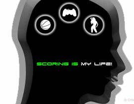 la12neuronanet tarafından Gaming and scoring theme t-shirt design wanted için no 107