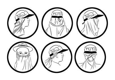 İzleyenin görüntüsü                             Illustration for 6 icons