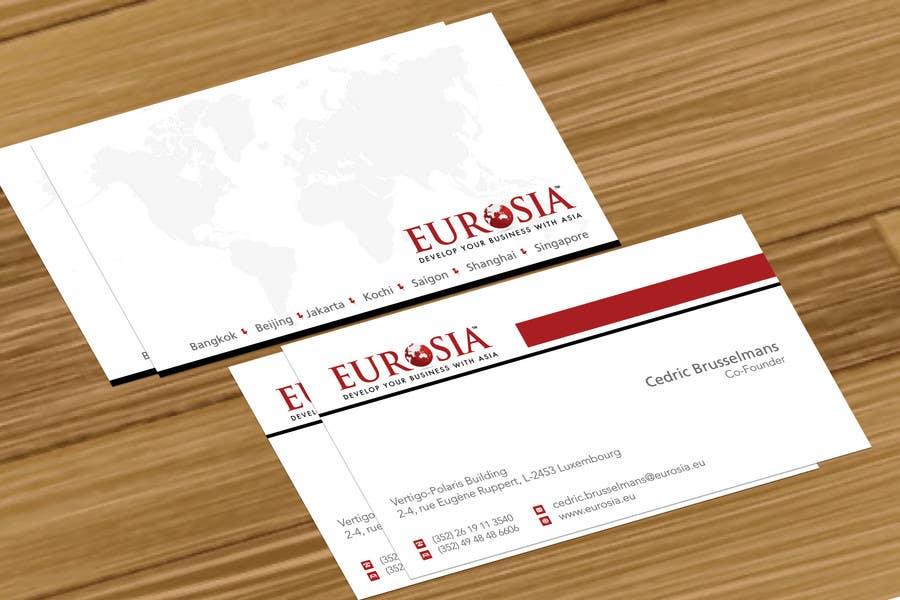 Bài tham dự cuộc thi #                                        72                                      cho                                         Business Card Design for www.eurosia.eu