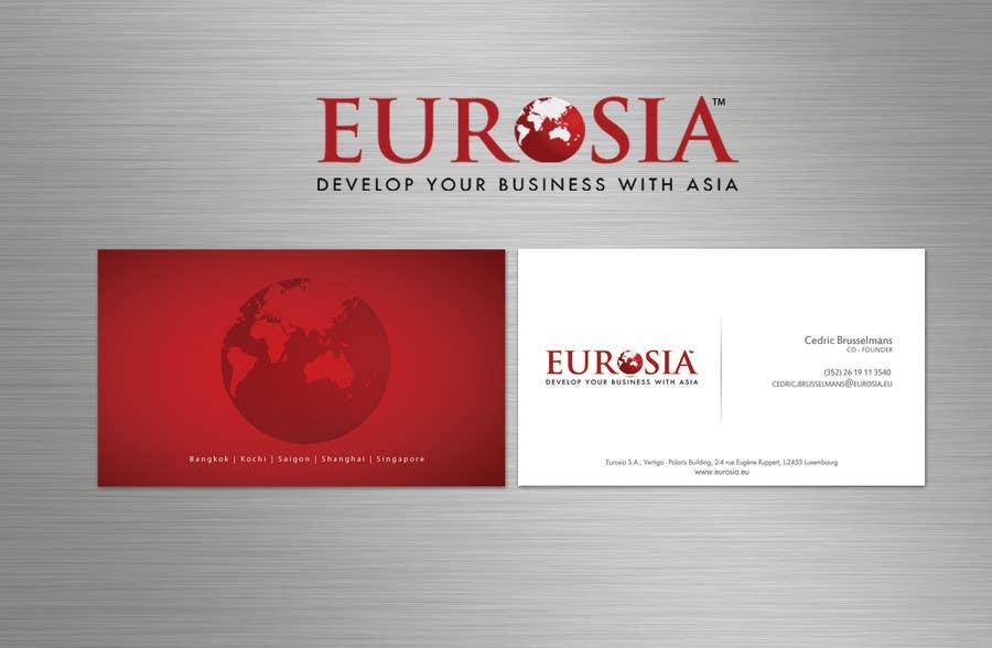 Bài tham dự cuộc thi #                                        89                                      cho                                         Business Card Design for www.eurosia.eu