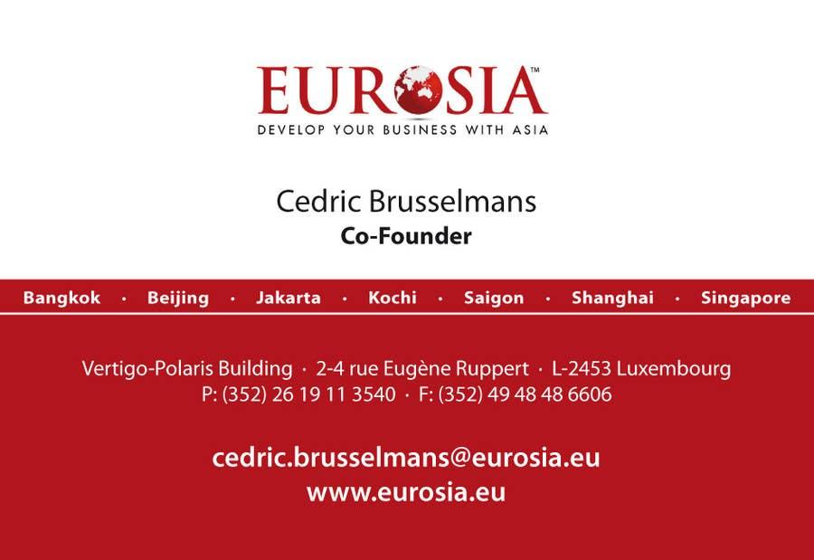 Bài tham dự cuộc thi #                                        23                                      cho                                         Business Card Design for www.eurosia.eu