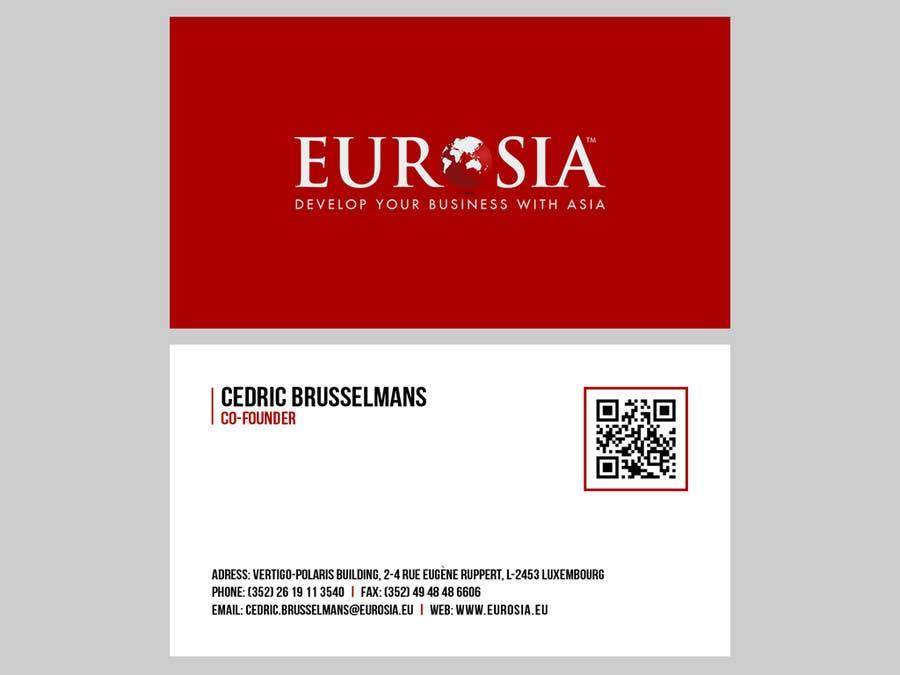 Bài tham dự cuộc thi #                                        58                                      cho                                         Business Card Design for www.eurosia.eu