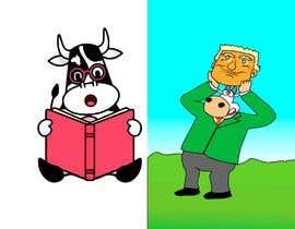 #9 untuk Funny Illustrations - 2cows oleh mk45820493