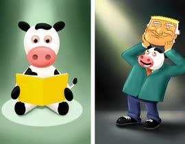 #6 untuk Funny Illustrations - 2cows oleh artkrishna