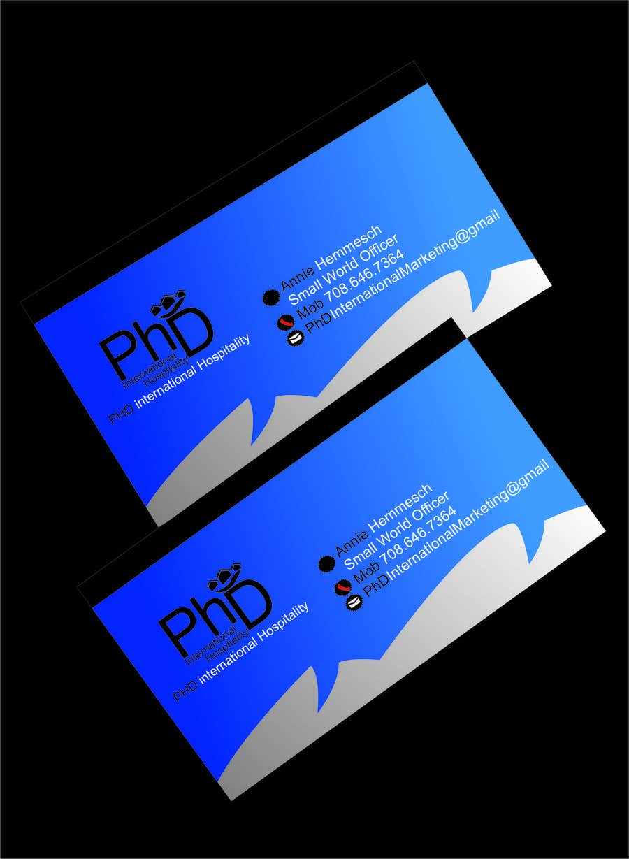 Contest Entry 16 For Design Some Business Cards PhD International Marketing