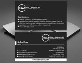 Nro 16 kilpailuun Business Cards for Firearms Business käyttäjältä dipangkarroy1996