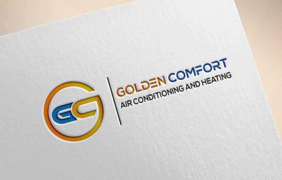 "Contest Entry #4 for I need help designing a logo for my air conditioning business. Currently the logo is my dog. The name of my company being ""Golden Comfort Air conditionjng an Heating"". Contact me if you have any more questions. Thanks."
