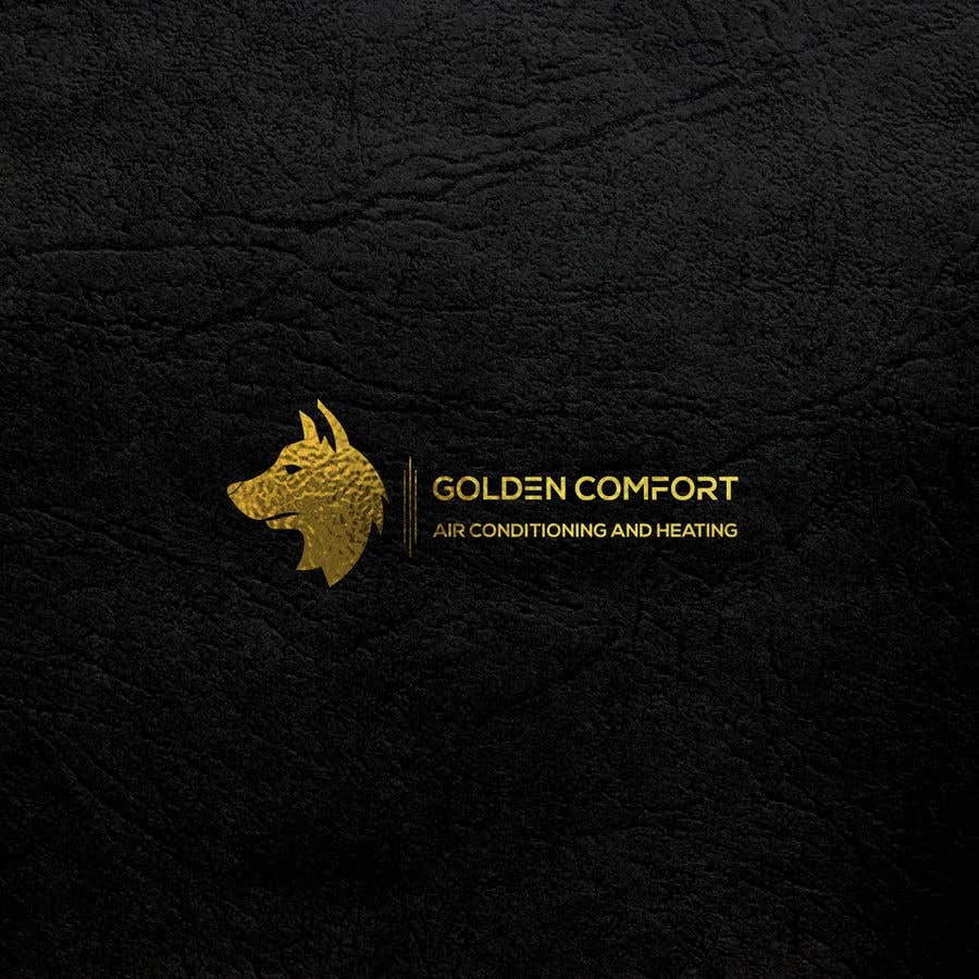 "Contest Entry #11 for I need help designing a logo for my air conditioning business. Currently the logo is my dog. The name of my company being ""Golden Comfort Air conditionjng an Heating"". Contact me if you have any more questions. Thanks."