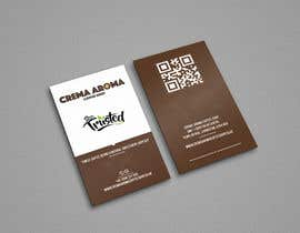 #185 for Business Card for Crema Aroma Coffee Shop by lubnakhan6969