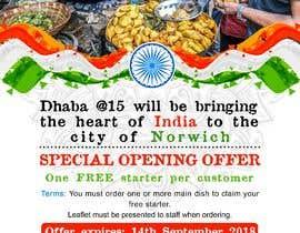 tarhlancer tarafından Design a Flyer for a Indian Street Cafe için no 27