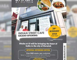 #20 untuk Design a Flyer for a Indian Street Cafe oleh darbarg