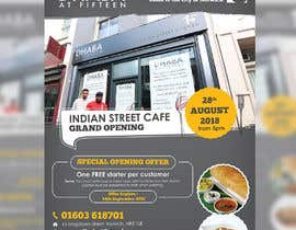#21 untuk Design a Flyer for a Indian Street Cafe oleh darbarg