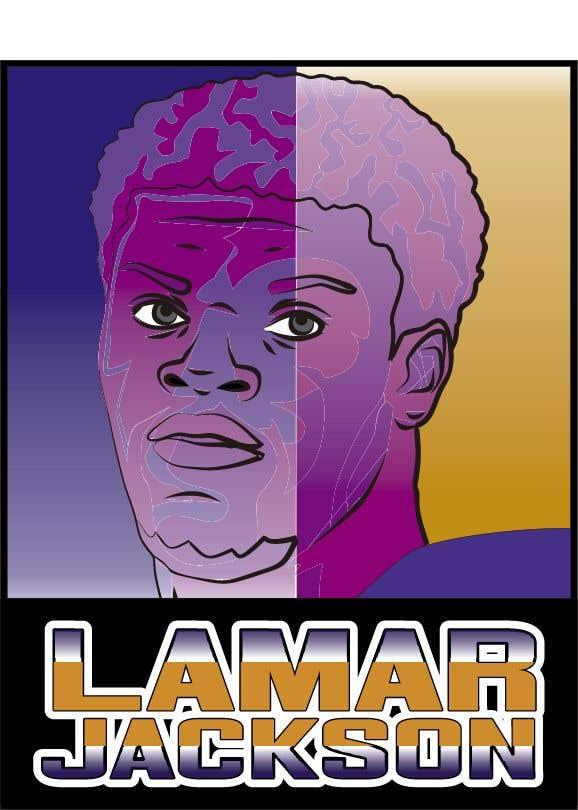 Konkurrenceindlæg #14 for Lamar Jackson 8 Logo Tshirt
