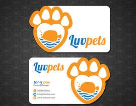 #58 pentru Create Business cards for Pet business de către papri802030