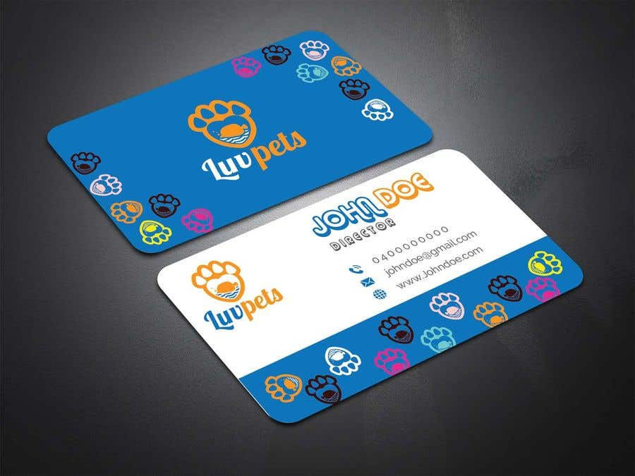 Participación en el concurso Nro.119 para Create Business cards for Pet business