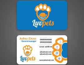 #54 pentru Create Business cards for Pet business de către sumona018