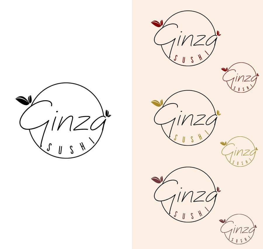 Συμμετοχή Διαγωνισμού #123 για Logo design for new restaurant. The name is Ginza Sushi.   We are looking for classy logo with maroon, Black and touches of silver (silver bc of the meaning). Would also like a brushstroke look but a highly visible name.