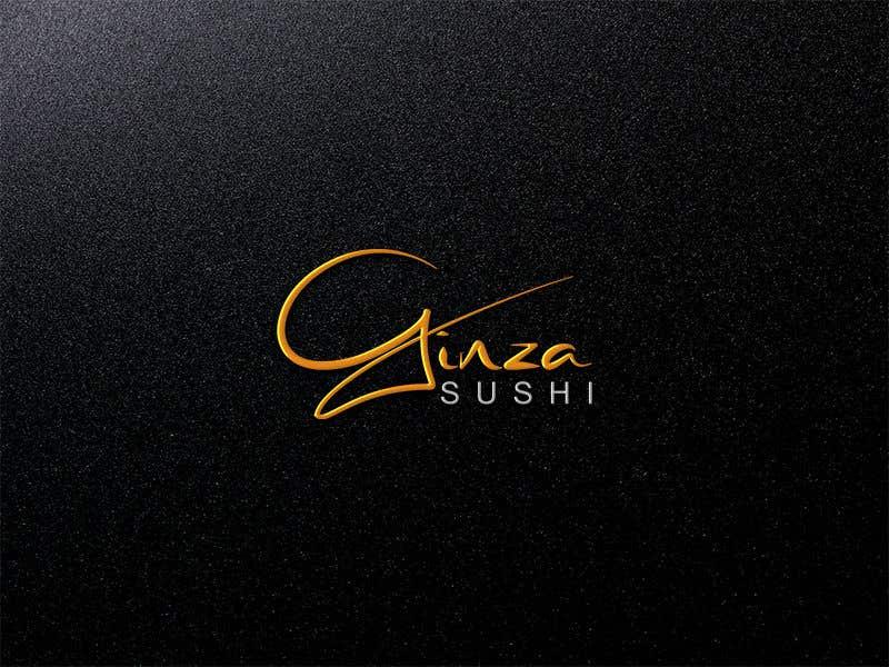 Συμμετοχή Διαγωνισμού #40 για Logo design for new restaurant. The name is Ginza Sushi.   We are looking for classy logo with maroon, Black and touches of silver (silver bc of the meaning). Would also like a brushstroke look but a highly visible name.