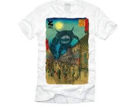 #8 для Monster attack on city T shirt design от DjIloveDESIGN