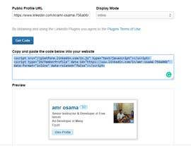 #3 for linked in member profile widget to my website by elancmia
