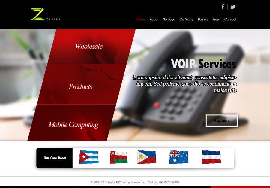 Konkurrenceindlæg #                                        6                                      for                                         Home page design