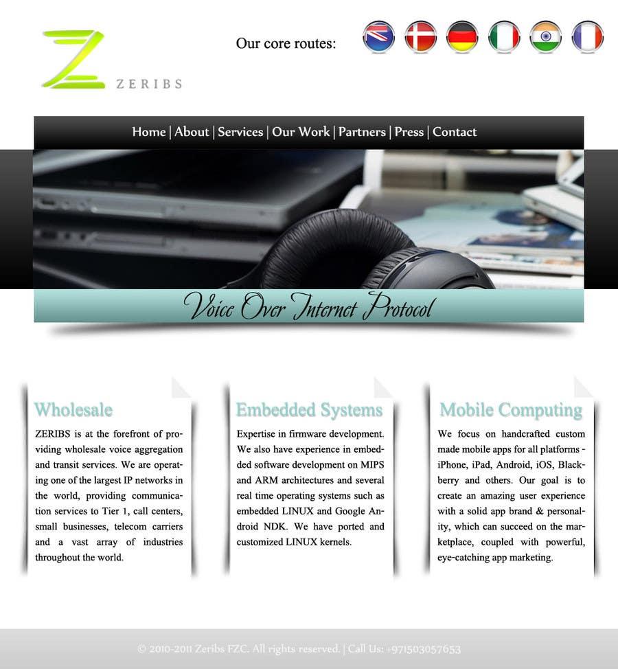 Konkurrenceindlæg #                                        8                                      for                                         Home page design
