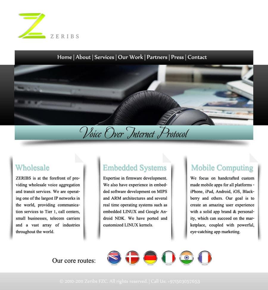Konkurrenceindlæg #                                        9                                      for                                         Home page design