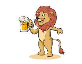 #20 for I want a cartoon lion drinking a beer glass by ibrahimkaldk