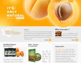 #42 untuk Graphic Design - Redesign FRONT PAGE Only - apricotseeds.co.nz website oleh Sidheek5