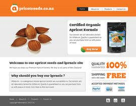#14 untuk Graphic Design - Redesign FRONT PAGE Only - apricotseeds.co.nz website oleh vigneshhc