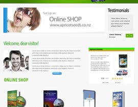 #39 untuk Graphic Design - Redesign FRONT PAGE Only - apricotseeds.co.nz website oleh marwenos002