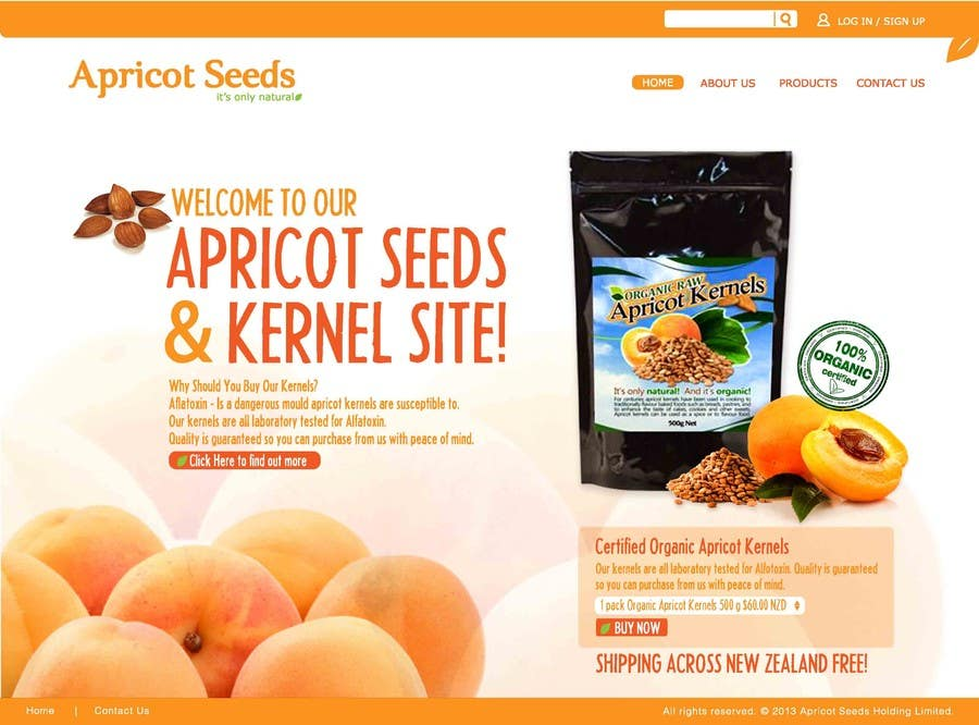 #27 for Graphic Design - Redesign FRONT PAGE Only - apricotseeds.co.nz website by Edlynsteven25