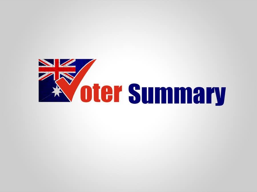 Bài tham dự cuộc thi #                                        21                                      cho                                         Logo Design for Voter Summary
